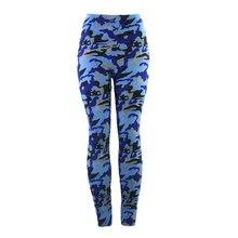 ФОТО sexy high elasticity thin high waist yoga pants camouflage sport leggings fitness sports wear running jogging for women gym