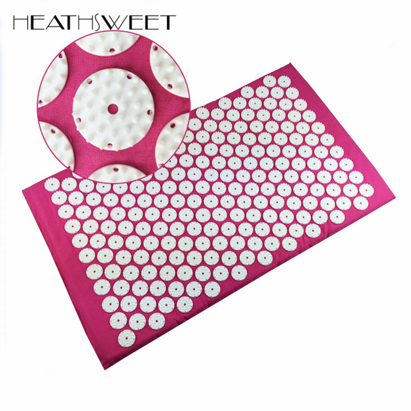 Healthsweet Neck Pain Relief Acupuncture Massager Cushion for Shakti Acupressure Yoga Mata Body Massage Mat Small Round 33 Pin