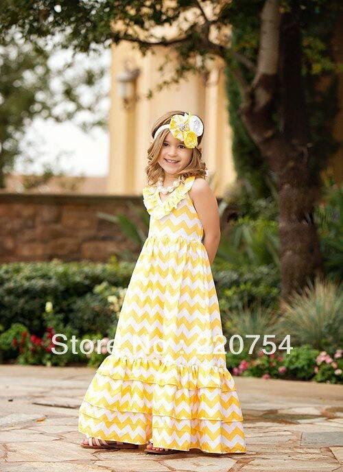 Aliexpress.com : Buy Retail fashion summer girl dress chevron maxi ...