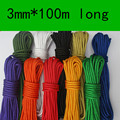 3MM Color Tent Rope Braided  Polyester Polypropylene Bundled Clothes Nylon Decorative Rope