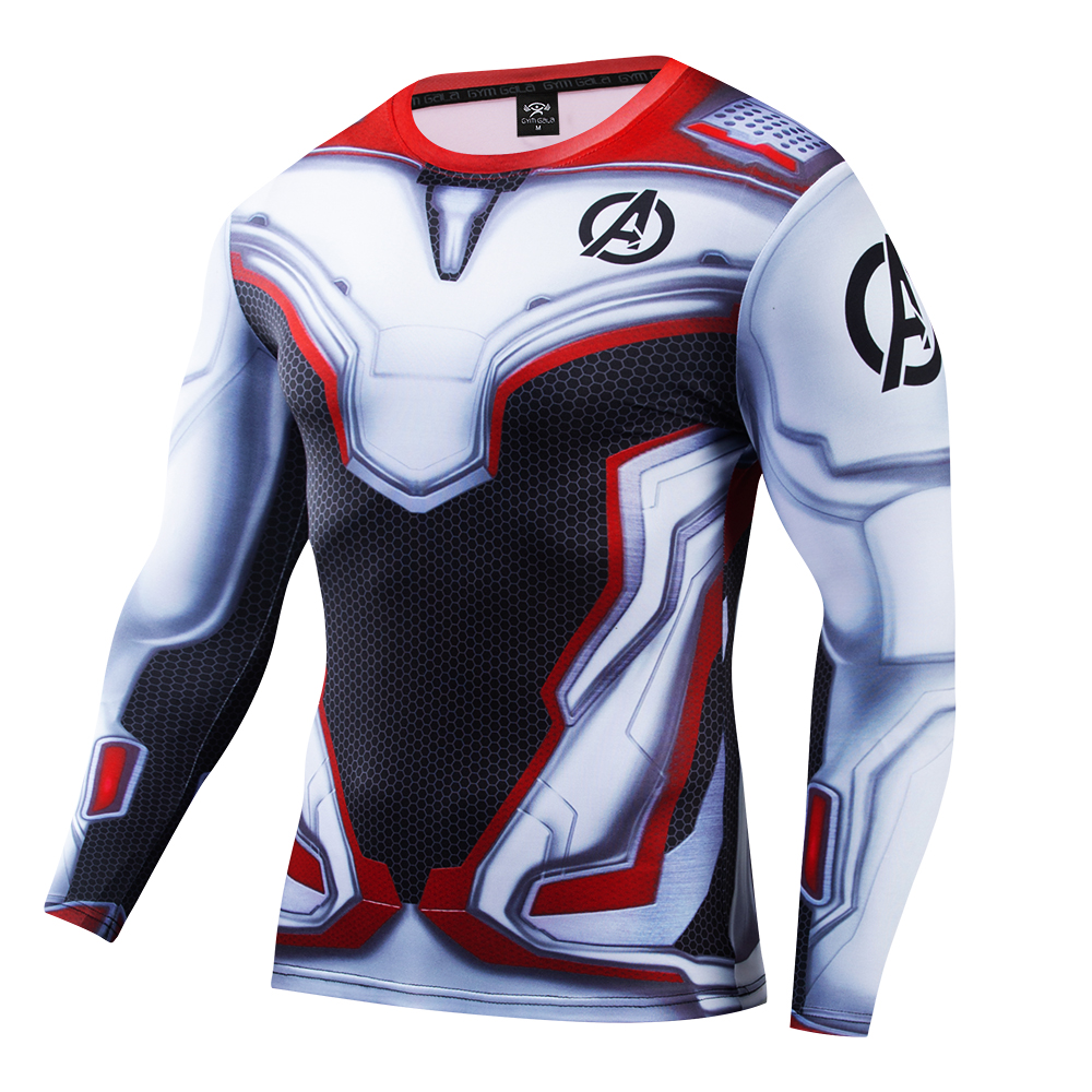 Tide Sweat releasing Fast drying Man shirt Fitness clothes Highlight Muscle Line Long Sleeve blouse Sexy body Shape Tight Tee