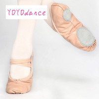 Professional Ballet Shoes Slippers Women Girls Toddler Genuine Leather Zapatillas Ballet Full Split Sole Ballet Dance Shoe