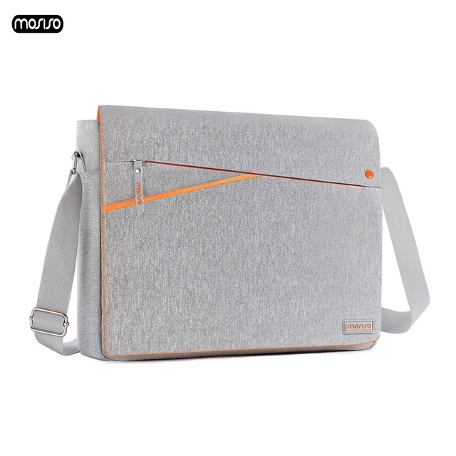 MOSISO Large Capacity Laptop Shoulder Bag 11 12 13 14 15 15.6 inch Waterproof Notebook Bag for MacBook/Dell/HP/Lenovo/Acer/Asus