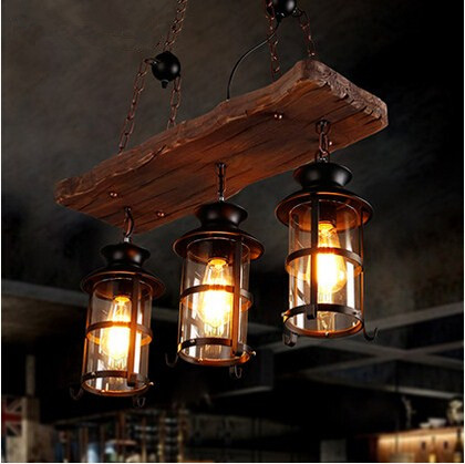 Nordic Country Loft Style Pendant Lights Wooden Creative Droplight Creative Hanglamp Fixtures For Bar Cafe Foyer Home Lightings novelty volcanic stone led pendant lamp reisn hemp rope creative droplight hanglamp fixtures for home lightings cafe living room