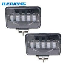 자동차 led 라이트 바 50 w 6 인치 led 작업 빛 홍수 운전 램프 자동차 트럭 트레일러 suv 오프로드 보트 12 v 24 v 4x4 4wd