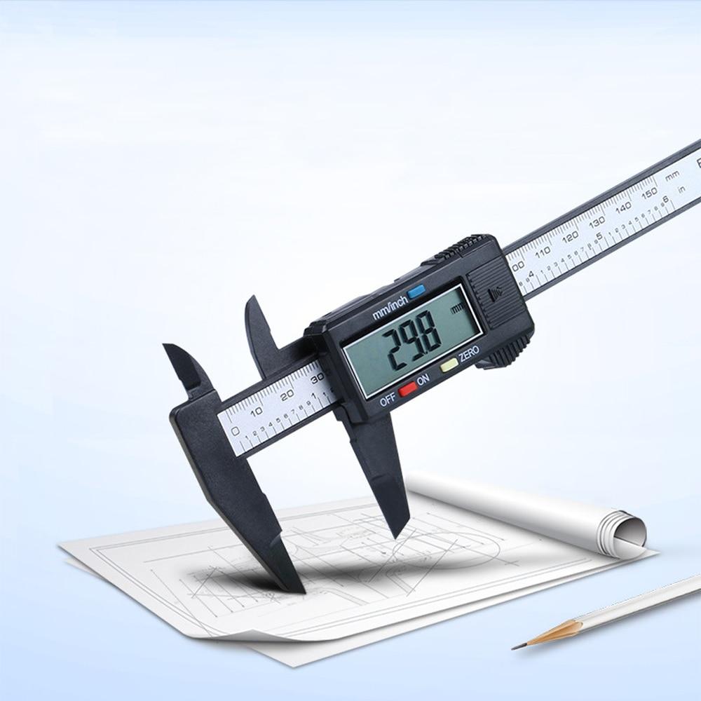 150mm 6inch LCD Digital Electronic Carbon Fiber Vernier Caliper Gauge Micrometer 150mm 6inch lcd digital electronic carbon fiber vernier caliper gauge micrometer measuring tool
