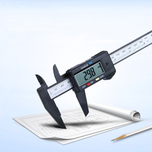 Wholesale prices 150mm 6inch LCD Digital Electronic Carbon Fiber Vernier Caliper Gauge Micrometer