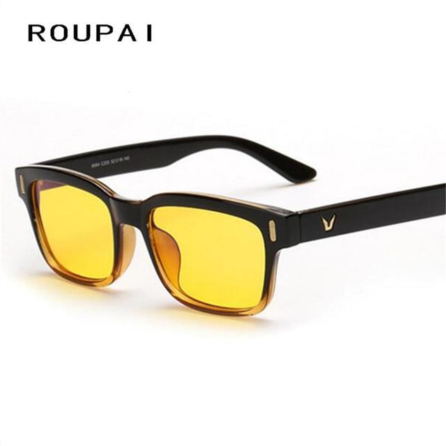5b015e0611af8 Marque ROUPAI Hommes Lunettes Anti-UV lunettes de Soleil Femmes Lunettes de  Vision Nocturne Conduite