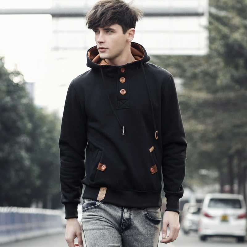 Sweatshirt Men Streetwear Cardigan Hoodies Mens New Fashion Capucha Cloak Hooded Male Hip Hop Sudaderas Hombre 5 Colors Jacket 1