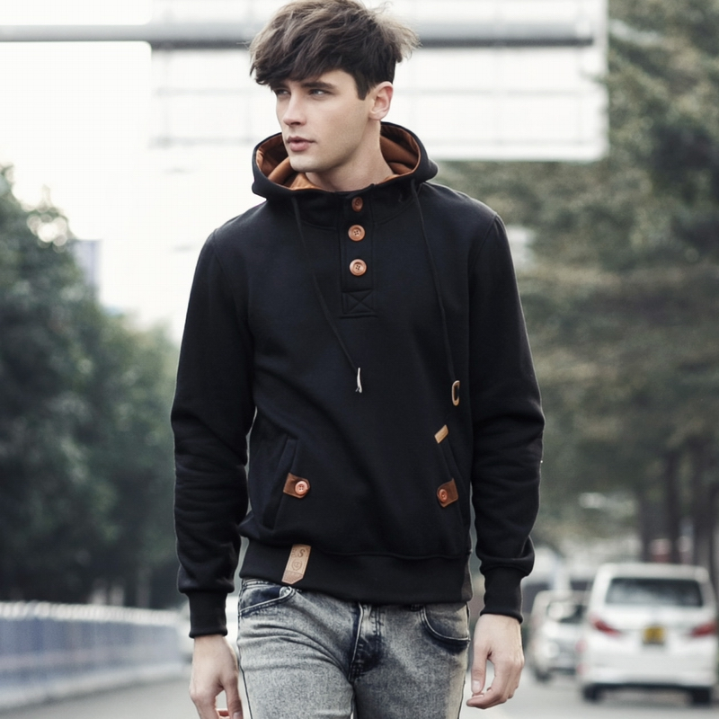 Sweatshirt Men Streetwear Cardigan Hoodies Mens New Fashion Capucha Cloak Hooded Male Hip Hop Sudaderas Hombre 5 Colors Jacket 1(China)