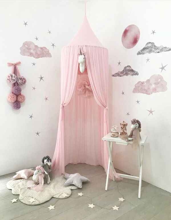 Detail Feedback Questions about Ins Girls Princess Canopy Bed Curtain Canopy Kids Room Decoration Baby Round Mosquito Net Tent Curtains Children Crib ... & Detail Feedback Questions about Ins Girls Princess Canopy Bed ...