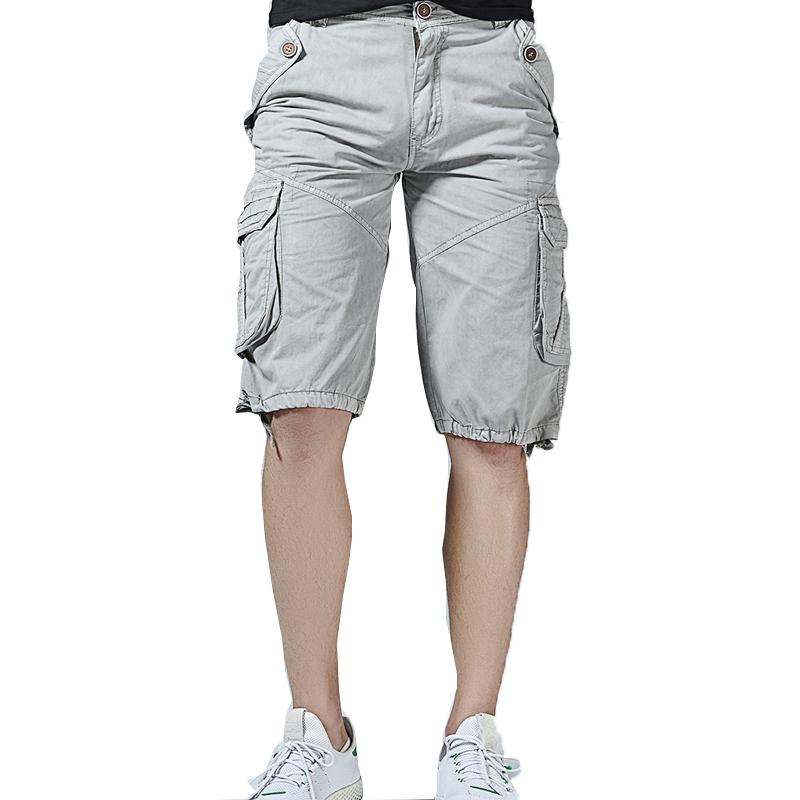 men cargo shorts cotton 2018 new arrivals men Army shorts loose mans short trousers Military  Bermuda Shorts Homme bottoms 40