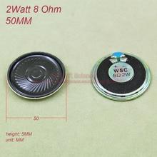 (20 шт./лот) мини Круглый Динамик 2 Вт 8 Ом 8r 8ohm Колонки диаметр 50 мм толщина 5 мм рожок