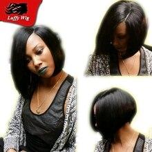 Beauty U Part Human Hair Wigs Bob Wave Brazilian Virgin U Part Wig Short Wavy Human Hiar Upart Wig For Black Women Free Shipping
