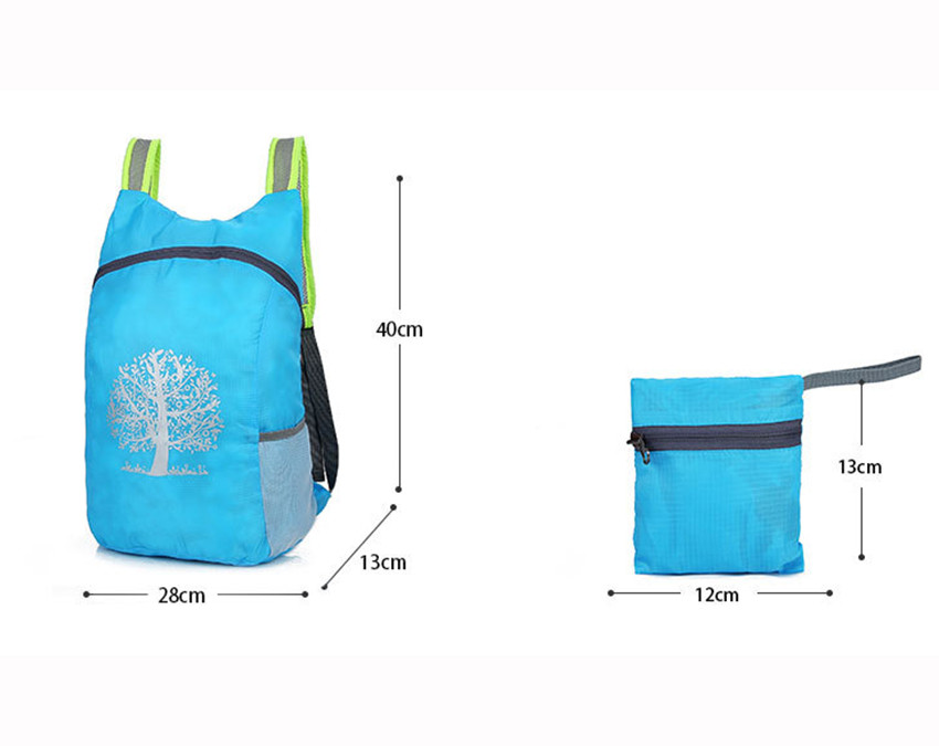 Packable Backpack dimensions