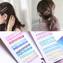 New 10pcs Long Hair Clips Large Heart Bobby Pins for Women Girls Accessories Tools Flat Clip Hairpin Metal Curly Barrette