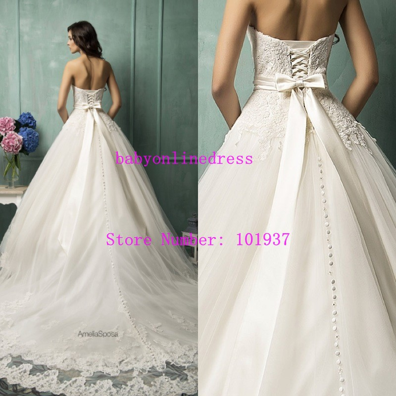 Merveilleux New Princess Wedding Dresses Vestido De Noiva Applique Lace Sweetheart  Sleeveless Lace Up Back Bridal Gowns In Wedding Dresses From Weddings U0026  Events On ...