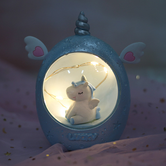 LED Light Resin Unicorn Bedroom Decor Lamps