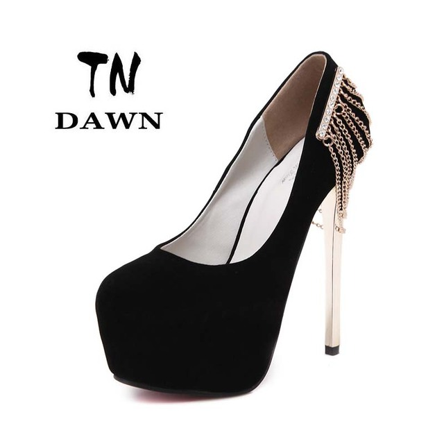 372d8436f84b 2016 New Women Shoes High Heels Thin Heel Sexy Shoes Fashion Shoes Round Toe  Platform Elegant Pumps Stiletto Heels Black And Red