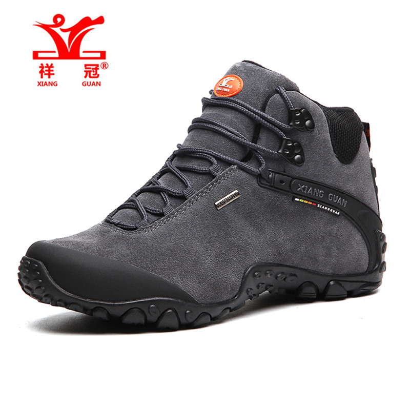ФОТО XIANGGUAN New Genuine boots waterproof hiking shoes boots Anti-skid Wear resistant breathable fishing shoes climbing high shoes