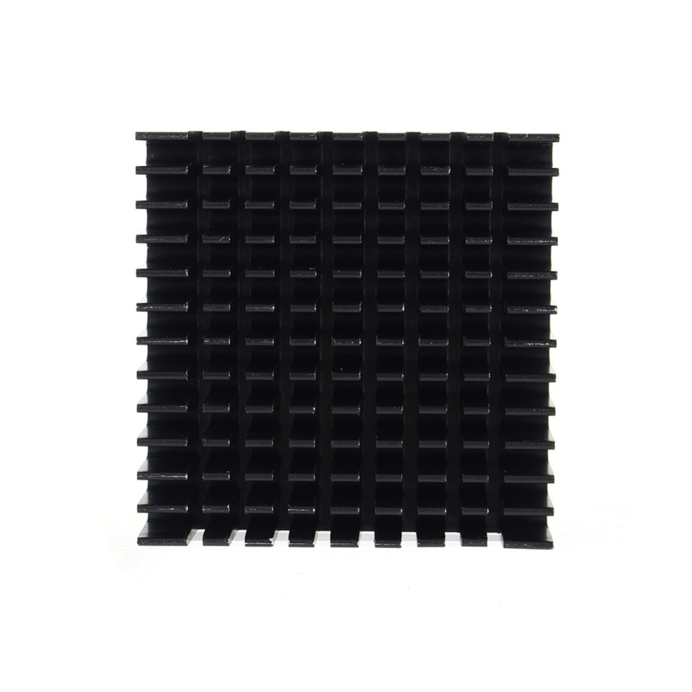 Black Color 40mm*40mm*11mm DIY Cooler Aluminum Heatsink Cooling Fin Heat Sink for LED Power Memory Chip IC hot 5pcs 19 19 5mm high quality aluminum heat sink for led power memory chip ic diy