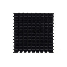 Black Color 40mm*40mm*11mm DIY Cooler Aluminum Heatsink Cooling Fin Heat Sink for LED Power Memory Chip IC(China (Mainland))