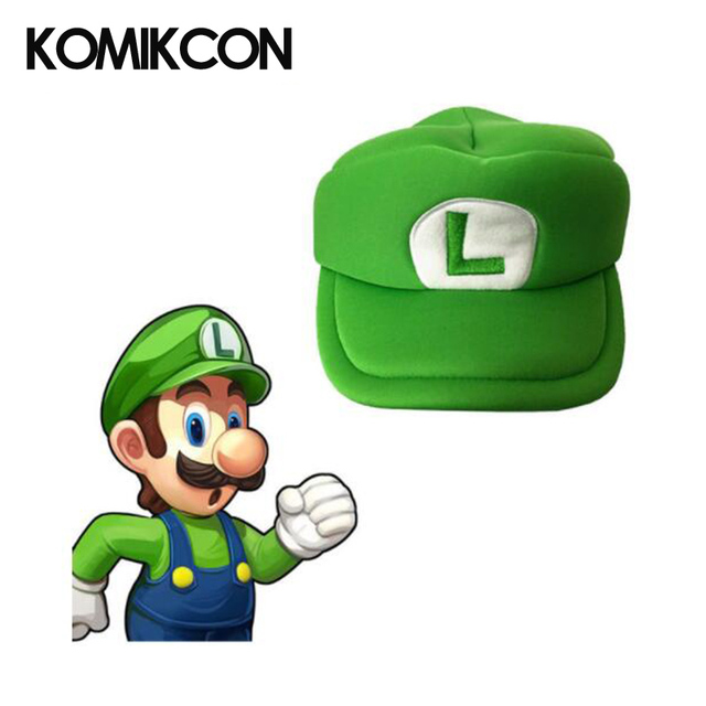 Komikcon Super Mario Odssey Cosplay Hats Luigi Costumes Green Caps Accessories Christmas Gifts for Halloween Party  sc 1 st  AliExpress.com : luigi costume accessories  - Germanpascual.Com