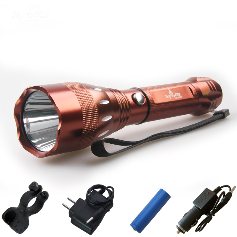 imported cree q5 bike flashlight rechargeable led flashlights lanterna bike night vision flashlight 18650chargerbike frame