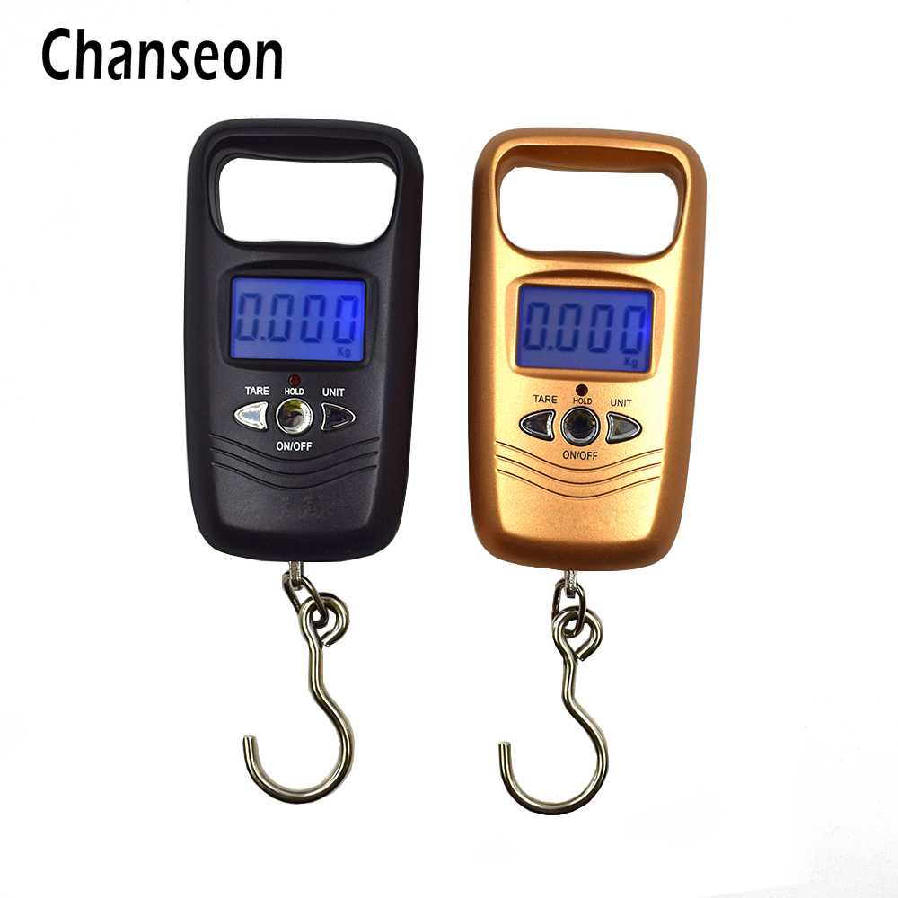Chanseon 110lb x 0.01lb Mini Portable Scale for Fishing Luggage Travel Weight Hanging Hook Scale LCD Digital Scales 50kg useful portable 50kg lcd display digital hanging scales electronic weight fishing hook scale black kitchen scales