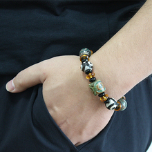 Natural Stone Beads Bracelet Charm Bangle Mew Crystal for men Big mens bracelets