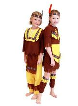 2019 New Kids Carnival Clothing Halloween Costume Childrens Indian Boy Girl Aboriginal  Savage Party Role Play