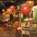 Люстра из ротанга  винтажная лампа  ресторанная люстра  современная светодиодная потолочная люстра AC 90 v-260 v  люстра для спальни Ma