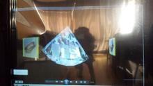 Película de proyección trasera transparente autoadhesiva de 15 metros cuadrados de 10m * 1.524 m, lámina de proyección trasera holográfica, pantalla perfecta