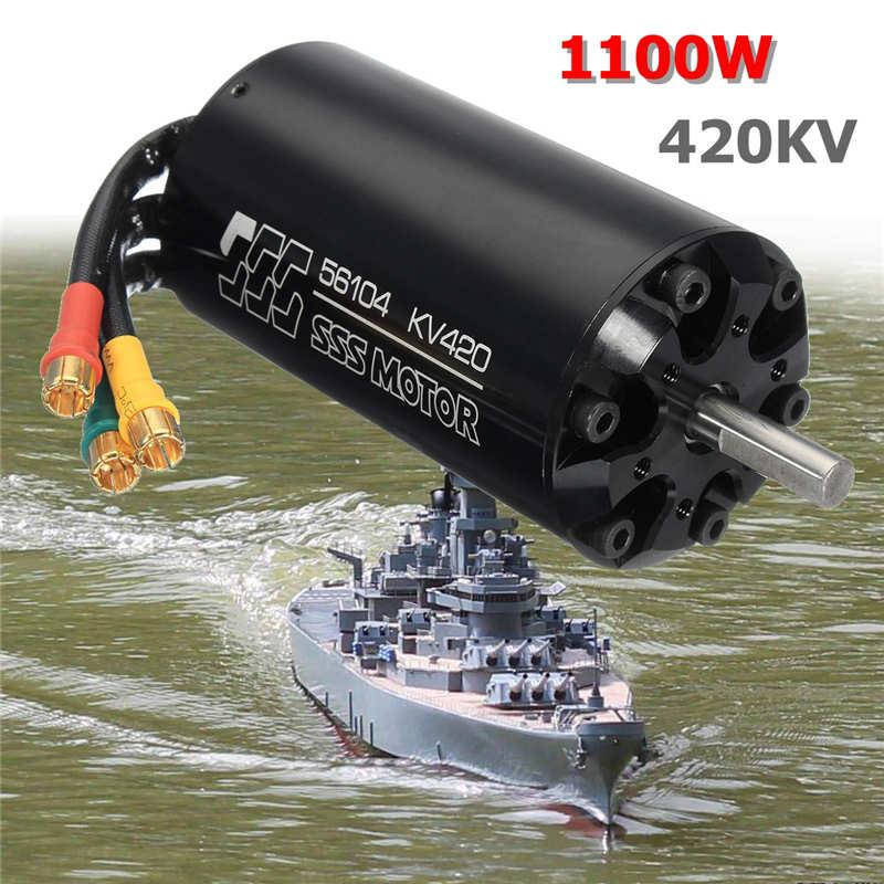 SSS 56104/420KV 13000 W Motor sin escobillas 6 polos para RC barcos marinos surf eléctrica