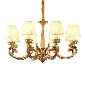 Đồng mỹ Đèn Chùm 3 6 8 cánh tay Đầy Đủ Bronze đối với Ăn Uống ngủ Phòng Khách Sang Trọng Suspendsion Thiết Bị Chiếu sáng E14 3 Wát đèn