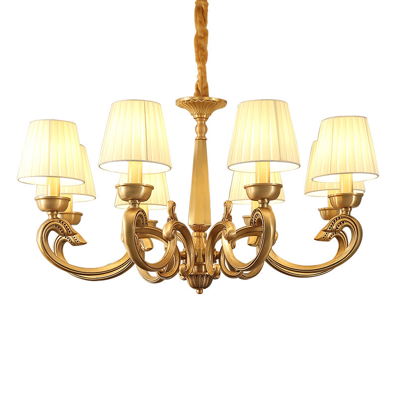 American Copper Chandelier 3 6 8 arm Full Bronze  for Bedroom Dining Living Room Luxury Suspendsion light Fixtures E14 3W lamp|chandelier 3|copper chandelier|chandelier bronze - title=