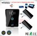 Support Android IOS App Wireless WiFi Video Door Phone intercom Doorbell with night vision + 2 inner door bells free shipping