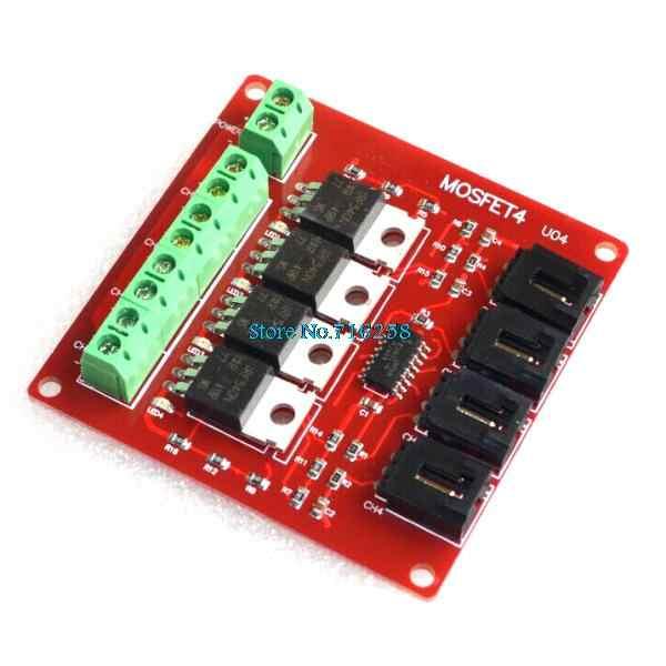 4チャンネル4チャネルウェイルートmosfetボタンIRF540 V4.0 + mosfetスイッチモジュールarduinoのためのdcモータ駆動dmimmerリレーボード