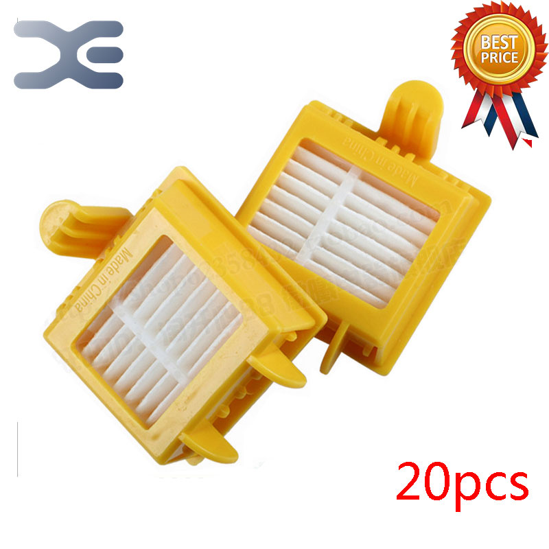 20Pcs Lot High Quality Vacuum Cleaner Parts IRobot Roomba700 Series Sweeping Robot Accessories Hepa Filter 20pcs lot vacuum cleaner parts high quality irobot 800 series sweeping robot accessories filter sea apa filter cotton