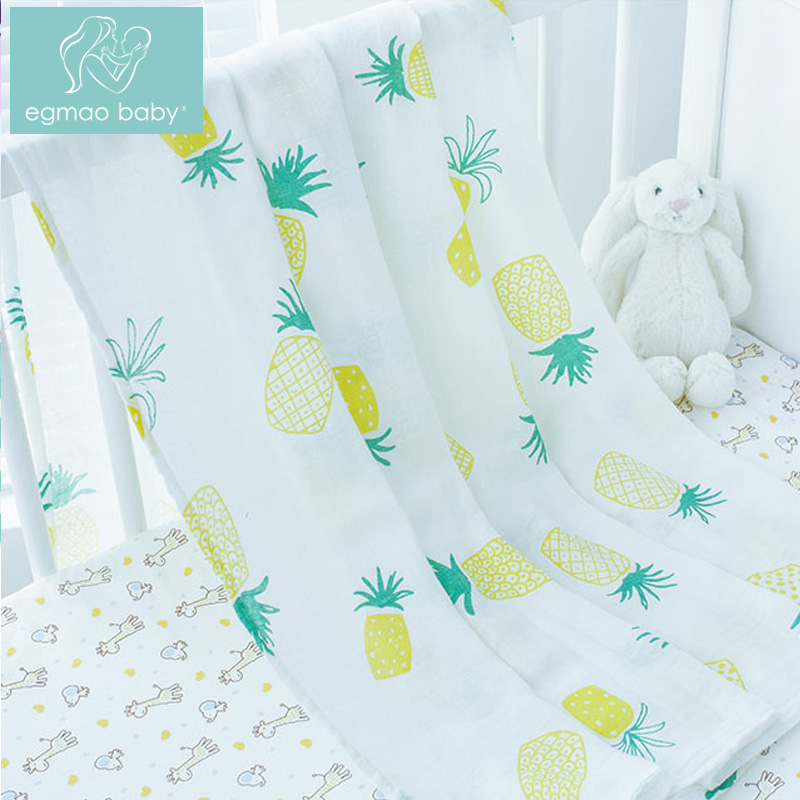 2018 New Infant Baby Blanket, 100% Bamboo Fiber Baby Blanket Soft Wrap Babys, Newborn Baby Muslin Blanket 2layers, 120*120cm