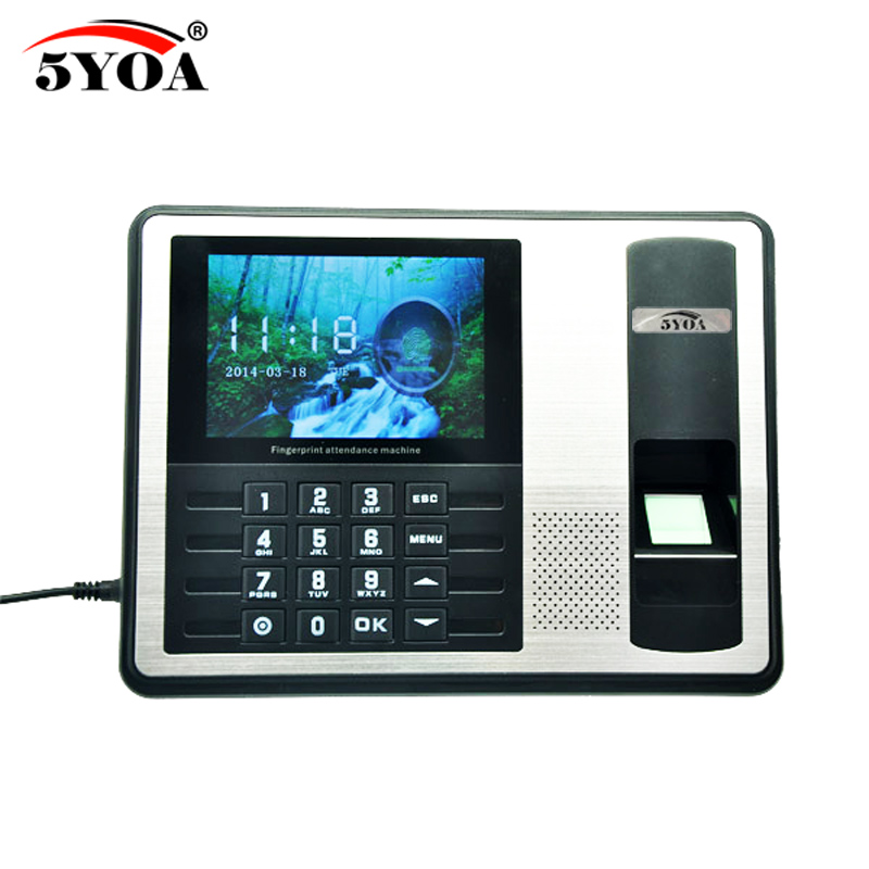 5YOA A17FY biometric fingerprint usb time clock English Voice attendance recorder timing employee sensor machine reader5YOA A17FY biometric fingerprint usb time clock English Voice attendance recorder timing employee sensor machine reader