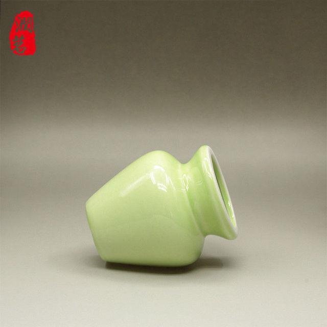 [GRANDNESS] Bamboo Chasen Stand Porcelain Matcha Tea Whisk Holder Japanese Ceremony Make for Matcha Tea Tool