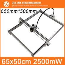 2500 mW DIY Mini Laser Machine De Gravure, 65*50 cm Zone De Gravure, Mini Machine de Marquage, avancée Jouets, meilleur Cadeau