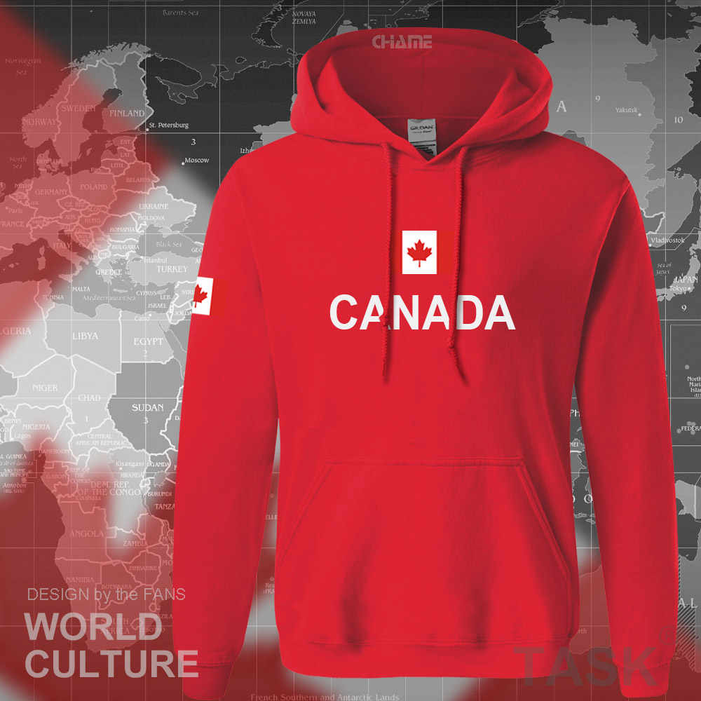 Canada 2017 hoodies men sweatshirt sweat new streetwear clothing jerseys footballer tracksuit nation Canadians flag fleece CA