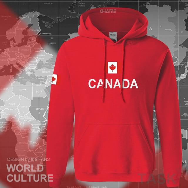 cd1a1c8f5dab Канада 2017 толстовки для мужчин Толстовка Пот Новый Уличная костюмы майки  футбольный костюм нации канадцы флаг