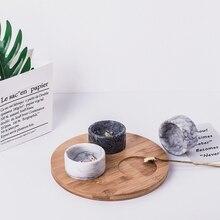 1 шт., натуральное Мраморное керамическое блюдо, тарелка для риса, салата, фруктов, миски для супа, Мраморная миска, посуда, кухонный инструмент для приготовления пищи