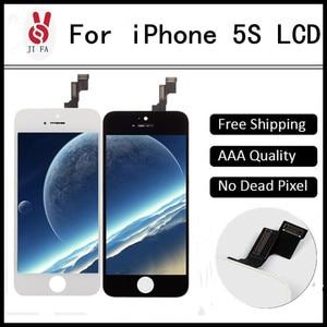 Image 1 - 10PCS כיתה + + + LCD עבור iPhone 5S LCD תצוגת מסך מגע עם digitizer עצרת החלפת Pantalla משלוח חינם DHL