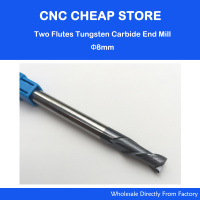 1PC 2 Two Double Flutes HRC55 Extra Long Shank Length 100mm Tungsten Carbide End Mill Bit