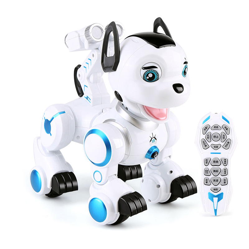 Wireless Remote Control Smart Dog Electronic Pet Educational Children's Toy Dancing Robot Interactive Dog Kid's Birthday Gift 2 4g wireless remote control smart dog electronic pet educational children s toy dancing robot dog without box birthday gift k10