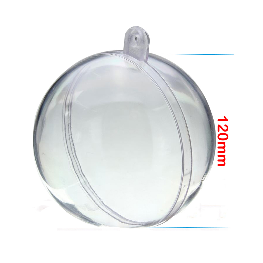 Clear glass ball ornaments - 5pcs 120mm Wedding Bauble Ornaments Christmas Decoration Tree Glass Transparent Clear Balls Decoration Ball Ornament